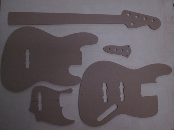 Jazz Bass 5 Saiter Schablone template