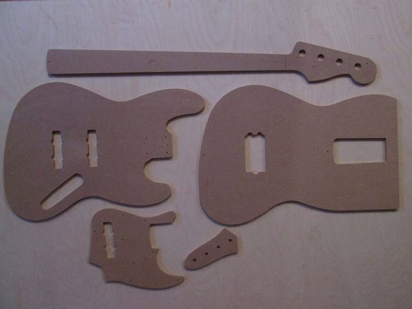 Jazz Bass Schablone template