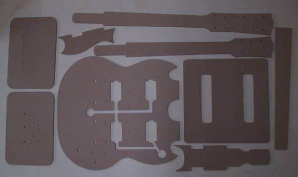 SG double neck 1275 Gitarre Schablone template